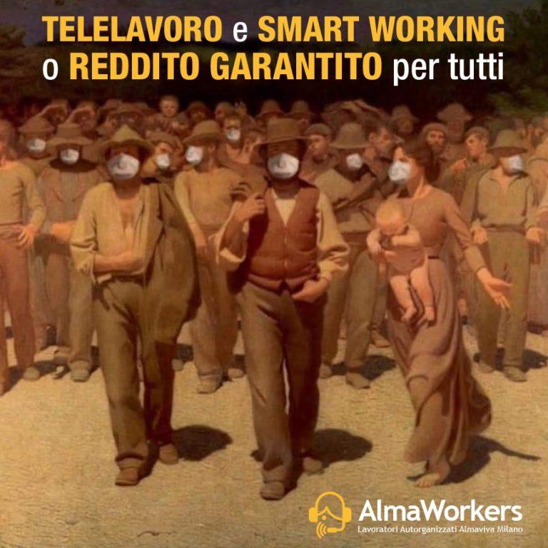 ALMAVIVA: SOSPESE ENTRO 72 ORE LE ATTIVITA' DEI CALL CENTER NON GESTIBILI ATTRAVERSO SMART WORKING