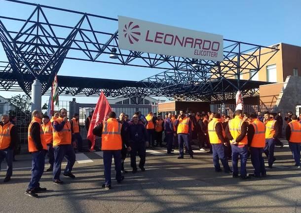 Sciopero bianco dei lavoratori di Leonardo