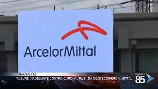 Taranto misure inadeguate contro il coronavirus, da oggi sciopero arcelor mittal