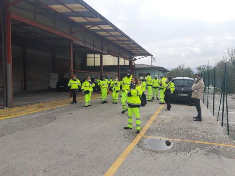 Mobilitazione dei lavoratori della manutenzione stradale ad Avellino
