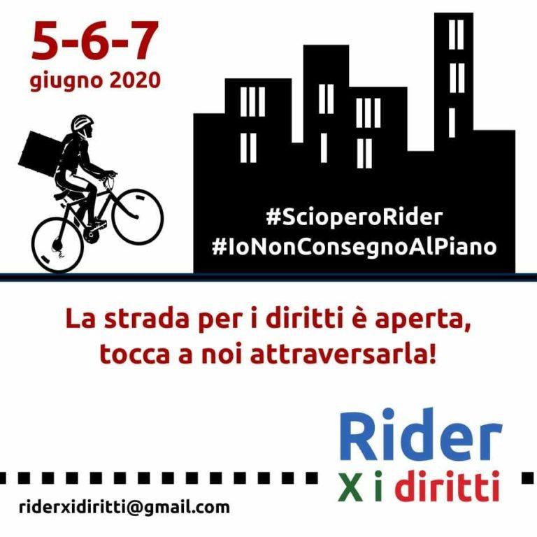 Sciopero dei Rider: #IoNonConsegnoAlPiano